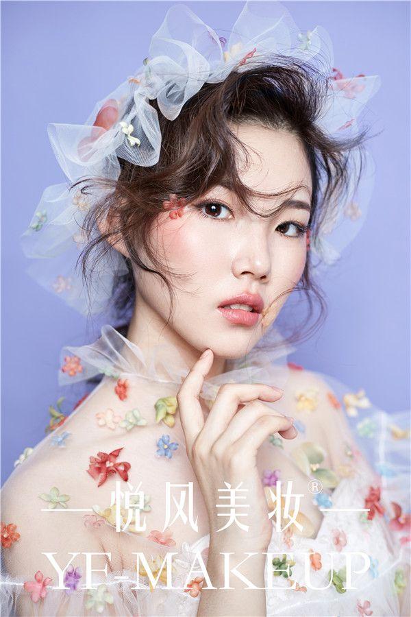 纯美抓纱新娘造型 优雅无比仙气十足
