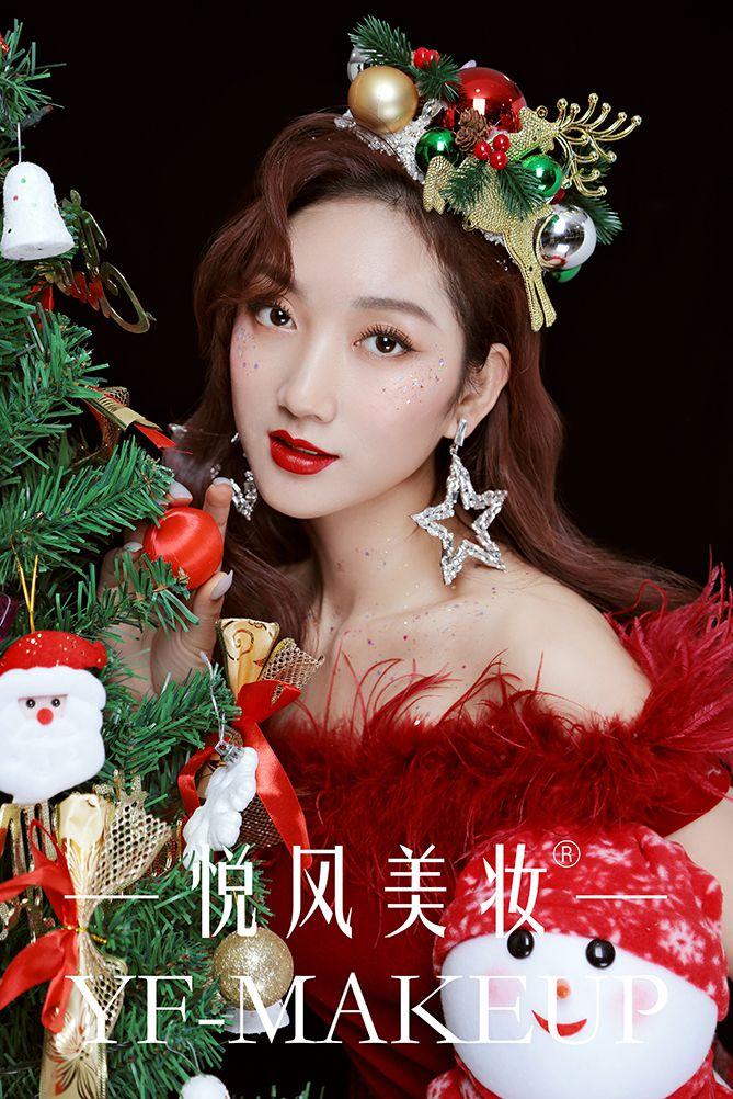 圣诞节妆面,超级惹眼的仪式感满满!